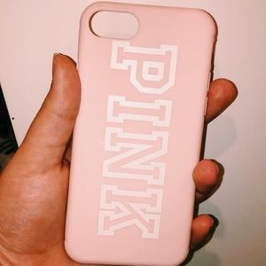 iphone 8s (pink/vs) pink phone case